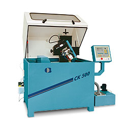 Sharpening machines for circular knives and bottom knives